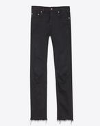 SAINT LAURENT Skinny fit U Original Mid Waisted Skinny Jean in Used Black Stretch Denim f