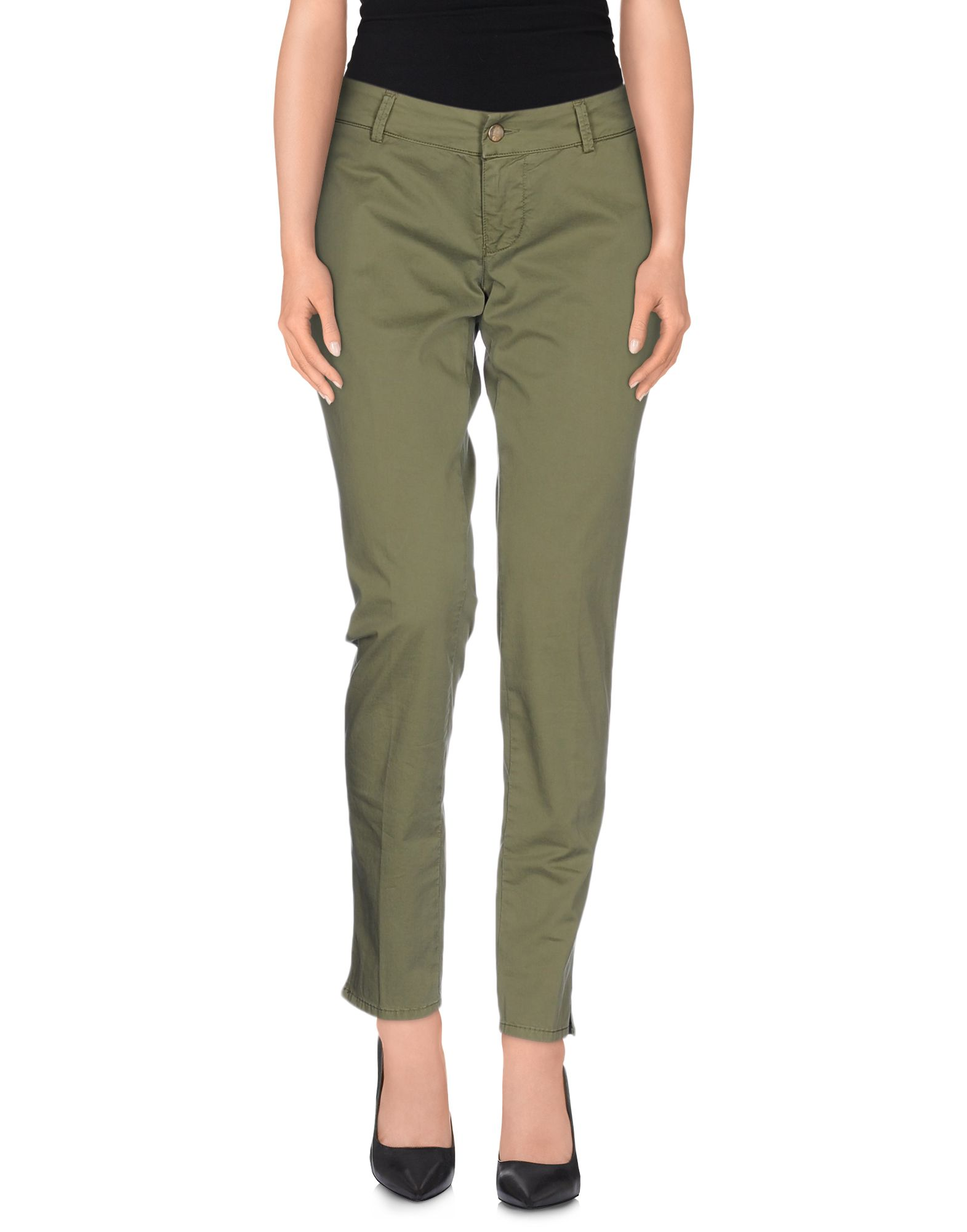 (+) PEOPLE Damen Hose Farbe Militärgrün Größe 4