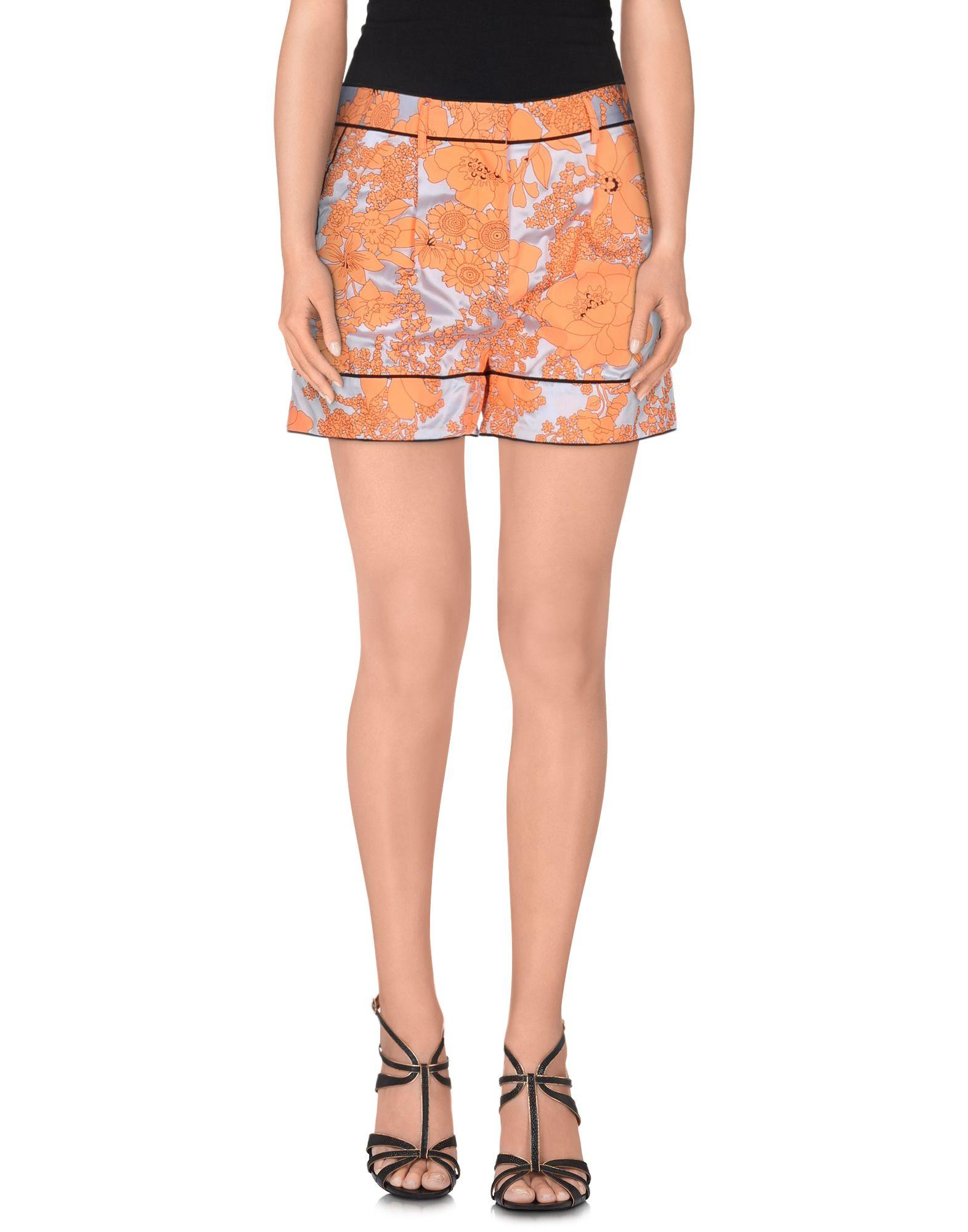 MSGM Damen Shorts Farbe Orange Größe 3