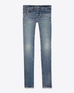 SAINT LAURENT Denim Pants D Original Low Waisted Skinny Jean in 90's Medium Blue Stretch Denim f