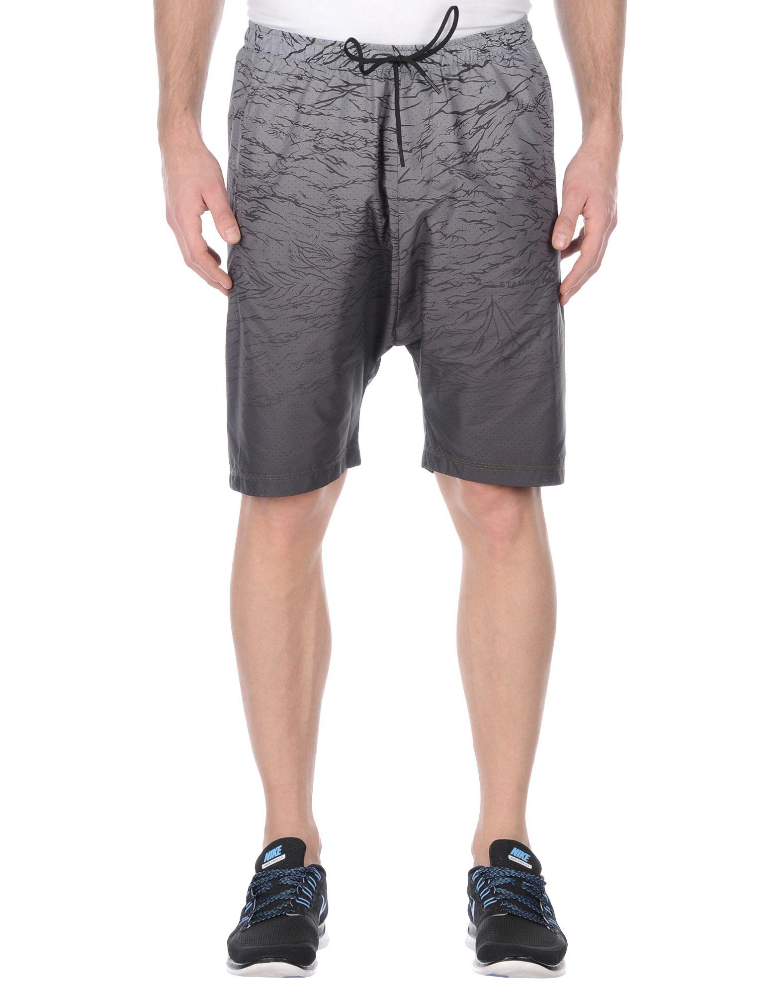 《2万円以上オーダーで送料無料》STAMPD x PUMA メンズ バミューダパンツ グレー L ポリエステル 100% 570915-Stampd Running Techy Shorts