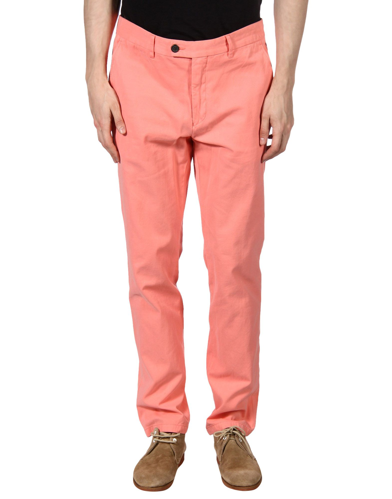 HENTSCH MAN Casual Pants in Salmon Pink
