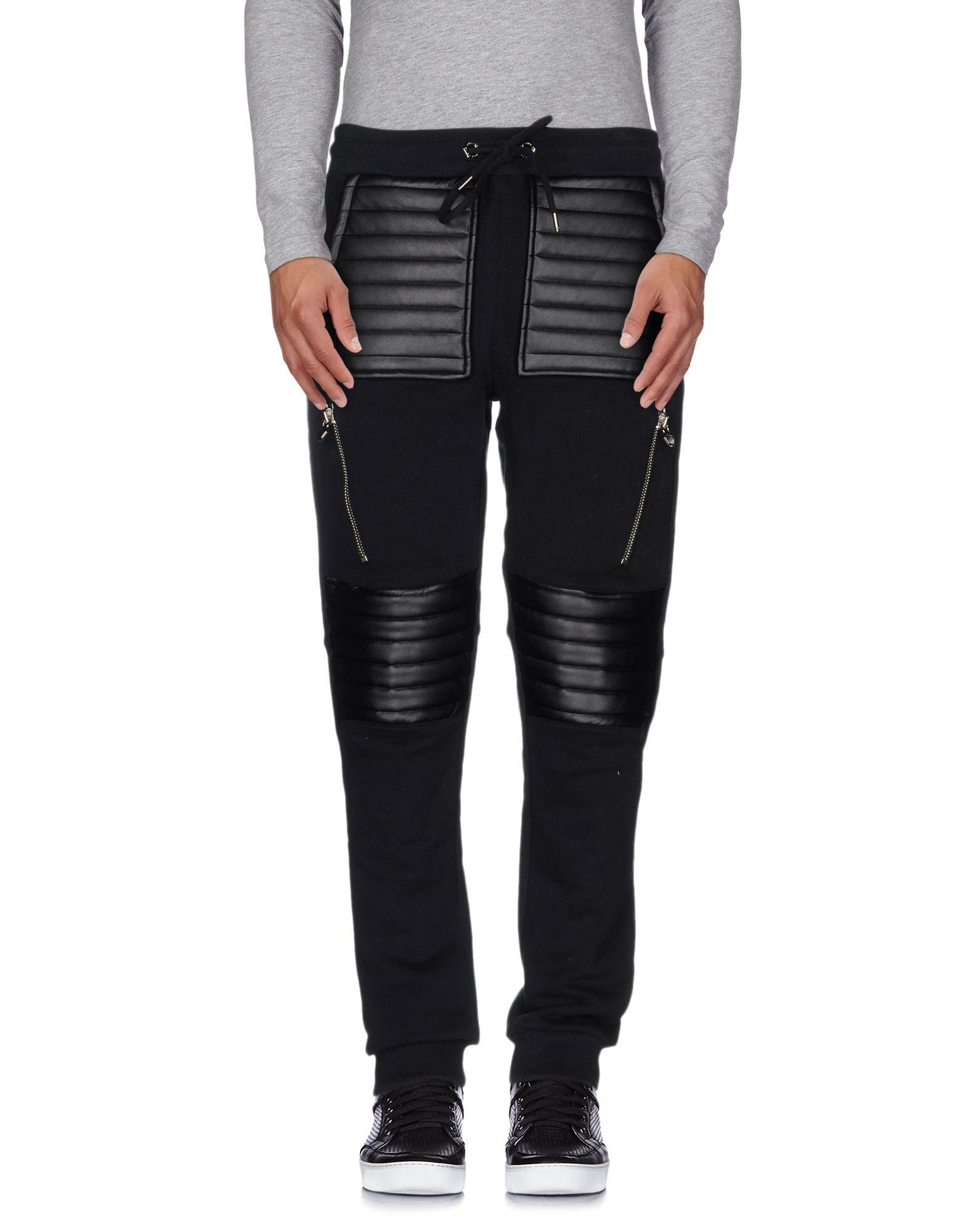《セール開催中》PHILIPP PLEIN メンズ パンツ ブラック XXL コットン 100% / ポリウレタン