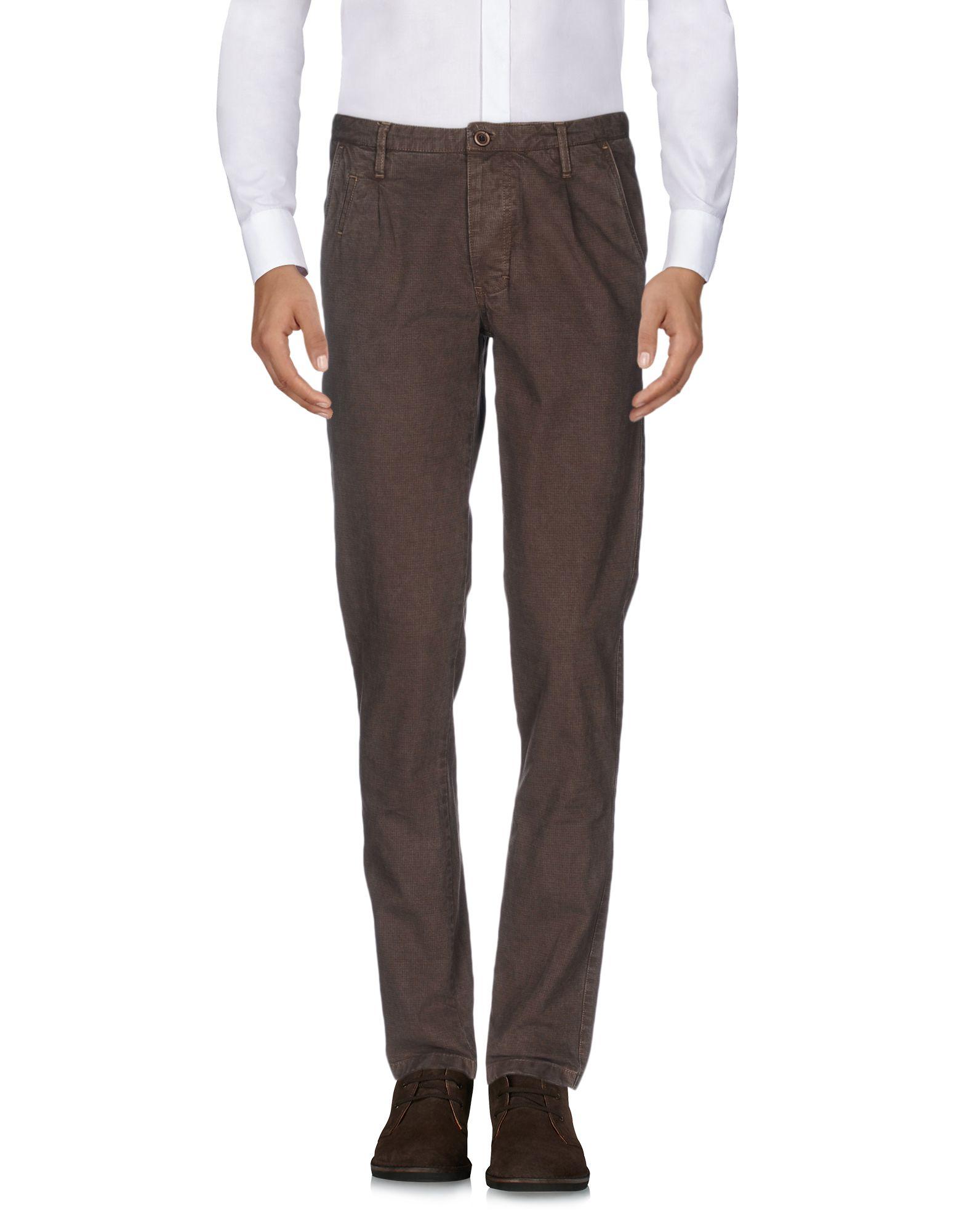 《セール開催中》PHIL GREY メンズ パンツ ダークブラウン 52 コットン 95% / ポリウレタン 5%