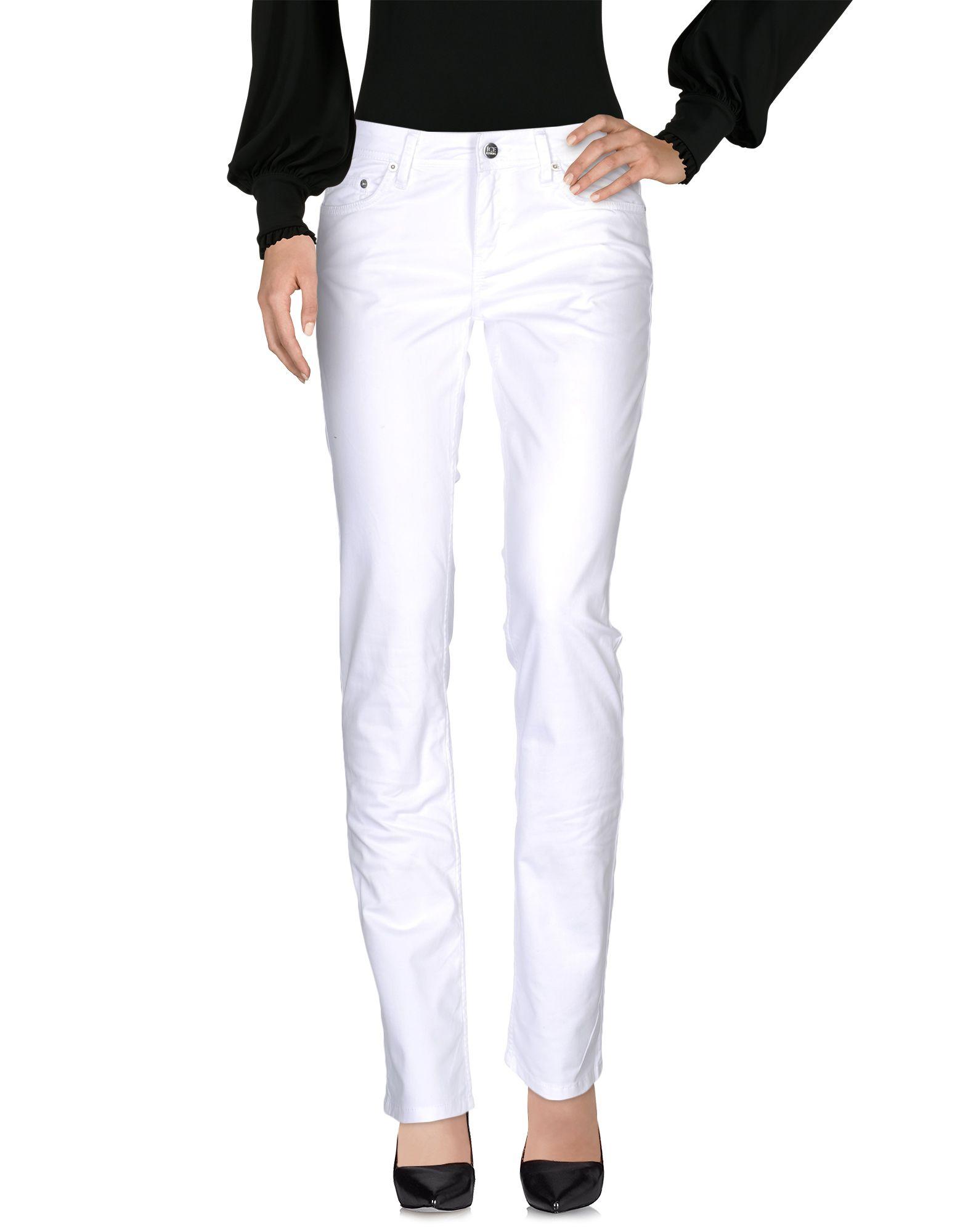 ICE ICEBERG Damen Hose Farbe Weiß Größe 6