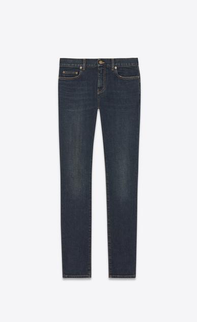 SAINT LAURENT Skinny fit U original low waisted skinny jean in dark blue used stretch denim v4