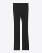 SAINT LAURENT Classic Pant U Classic 70's Flared Trouser in Black Virgin Wool f