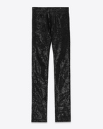 SAINT LAURENT Denim Trousers U original mid waisted skinny jean in black denim and sequins f