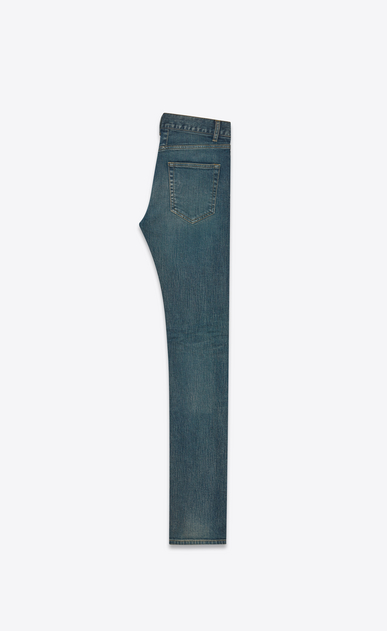 SAINT LAURENT Skinny fit U original low waisted skinny jean in light blue stretch denim b_V4