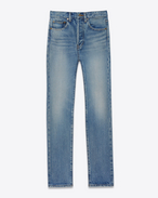 SAINT LAURENT Denim Pants D Original 80's Relaxed Fit Jean in 80's Light Blue Denim f
