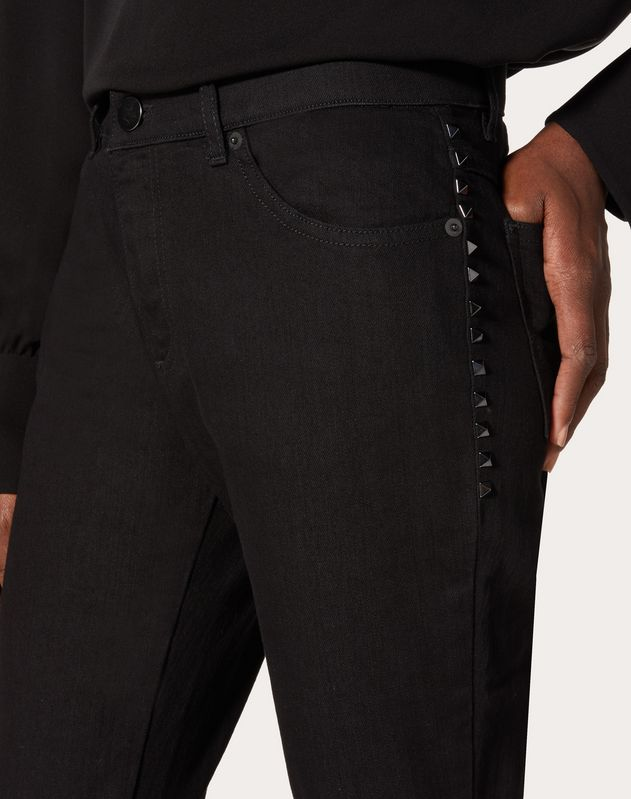Rockstud Untitled Noir Denim