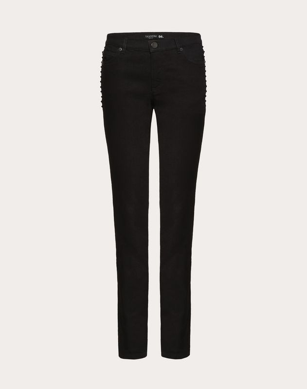 Denimhose Rockstud Untitled Noir