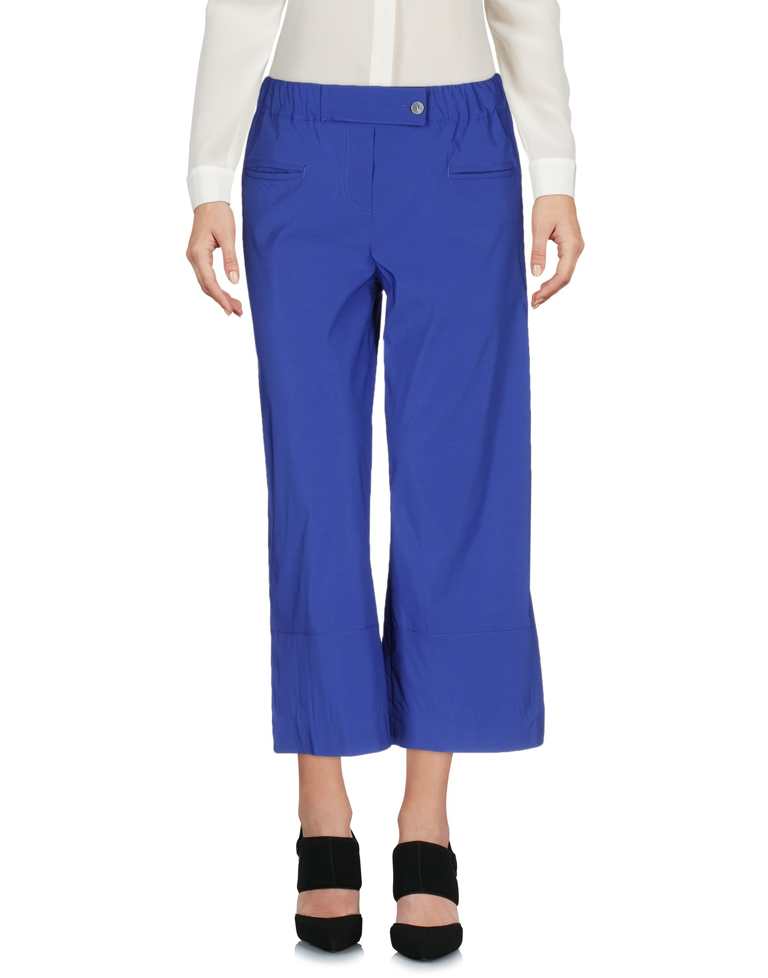 ATOS LOMBARDINI Cropped Pants & Culottes in Blue