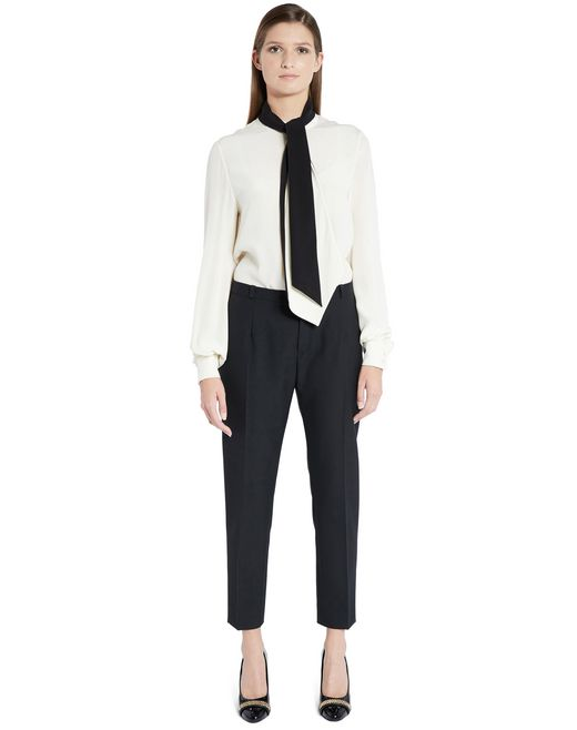 lanvin hemp canvas trousers women