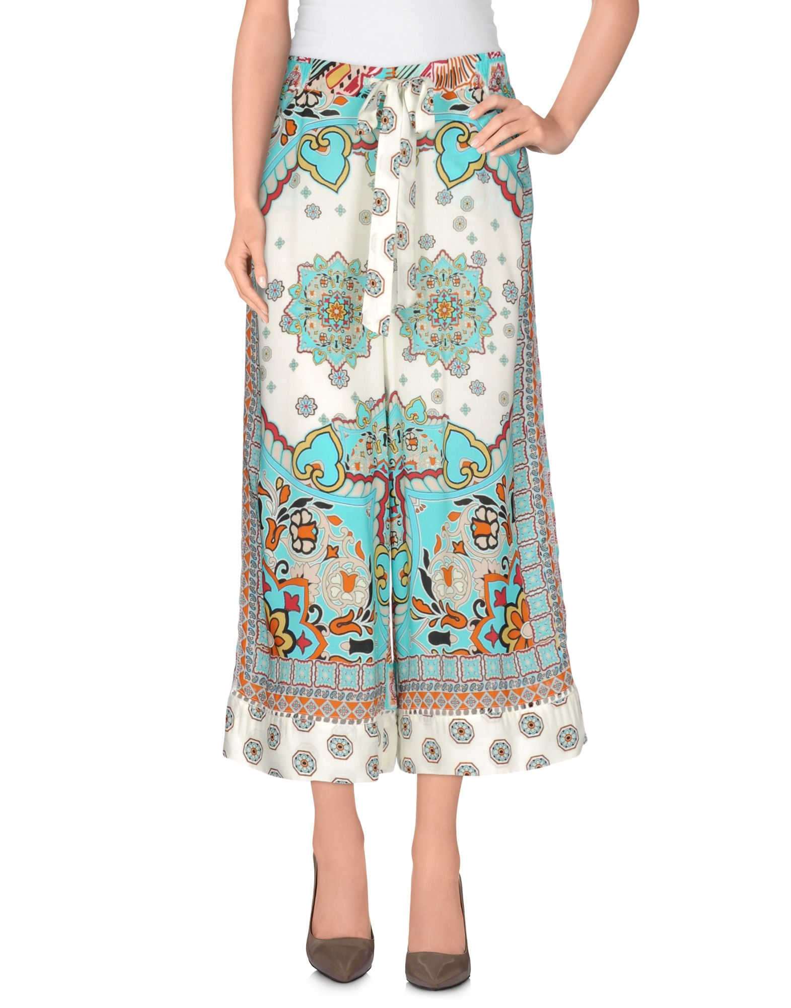 ATOS LOMBARDINI Cropped Pants & Culottes in Turquoise