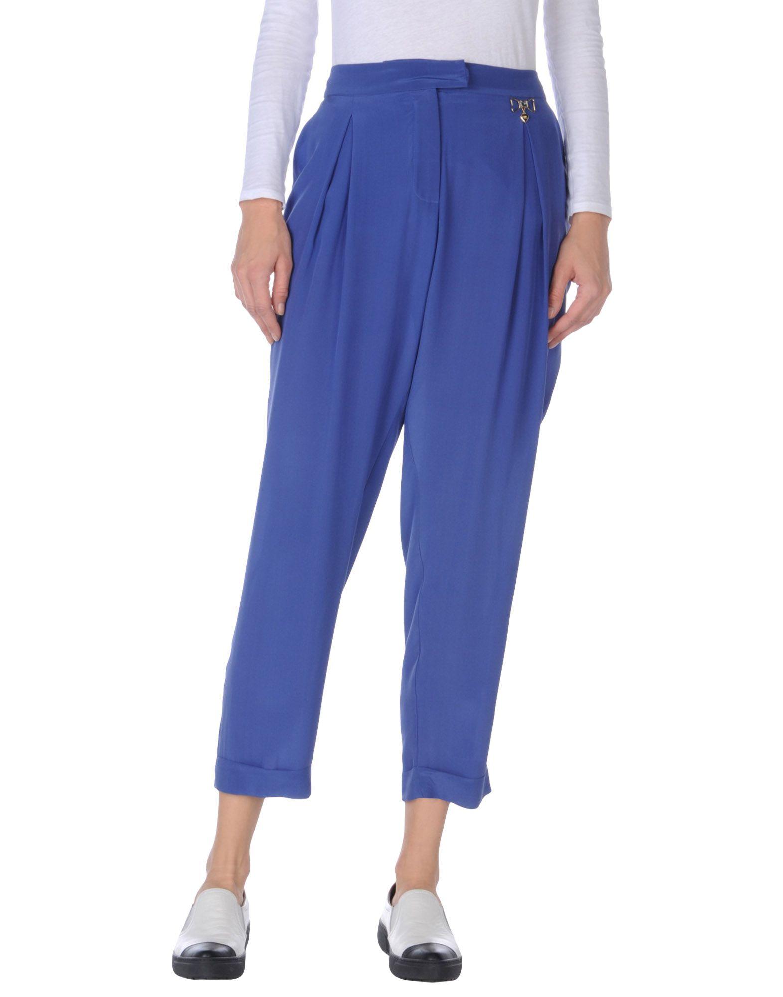 《送料無料》VDP COLLECTION レディース パンツ ブルー 46 シルク 100%