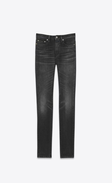 SAINT LAURENT Skinny fit D Original Mid Waisted Skinny Jean in Lightly Used Black Stretch Denim v4