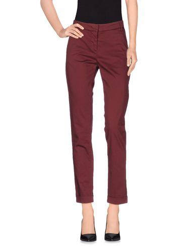 Купить Повседневные брюки от MANILA GRACE DENIM красно-коричневого цвета