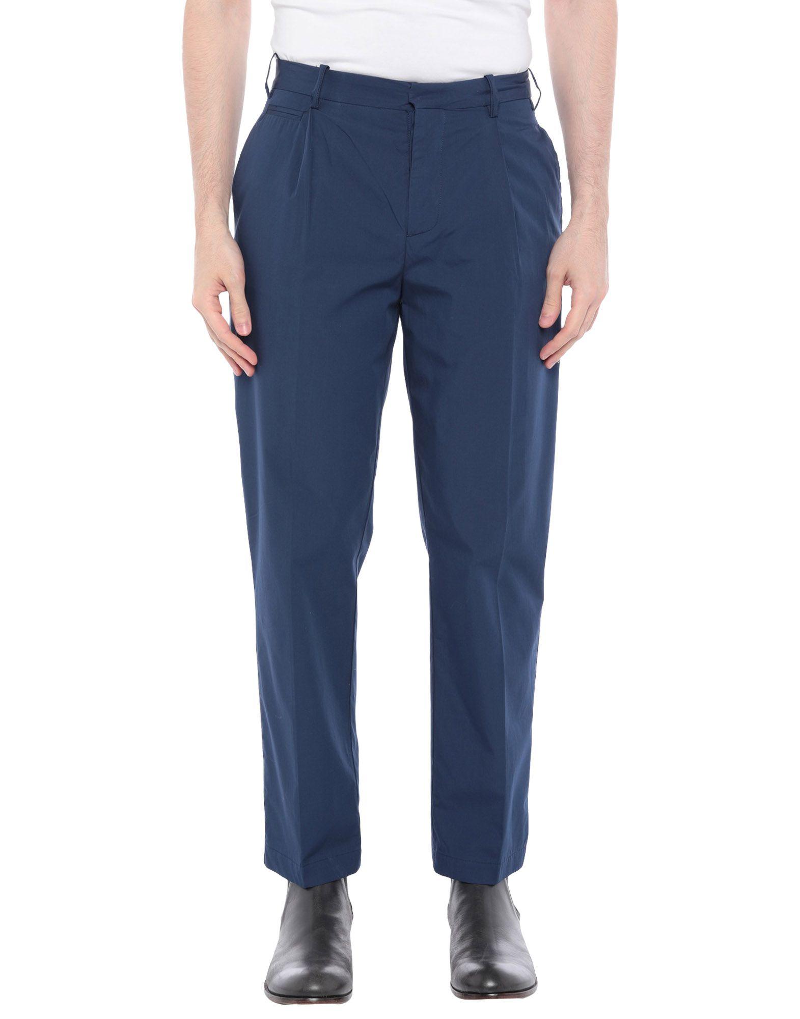 《セール開催中》PAOLO PECORA MAN メンズ パンツ ダークブルー 44 コットン 100%
