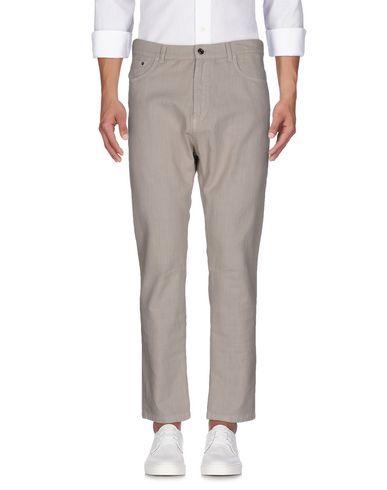 Фото - Джинсовые брюки от PAOLO PECORA бежевого цвета