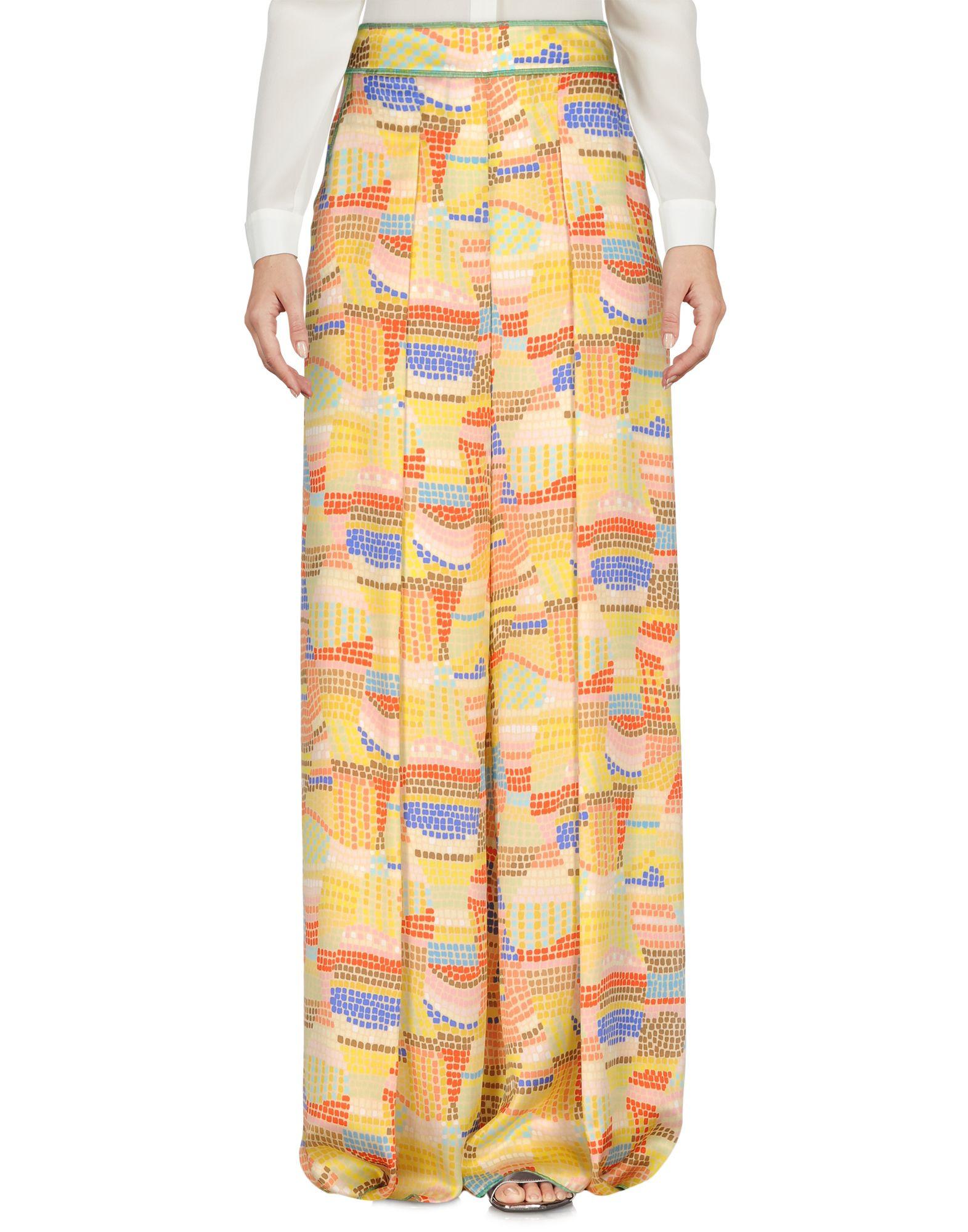 ANITA BASSETTI Damen Hose Farbe Gelb Größe 3