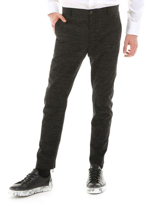 lanvin technical wool biker trousers men