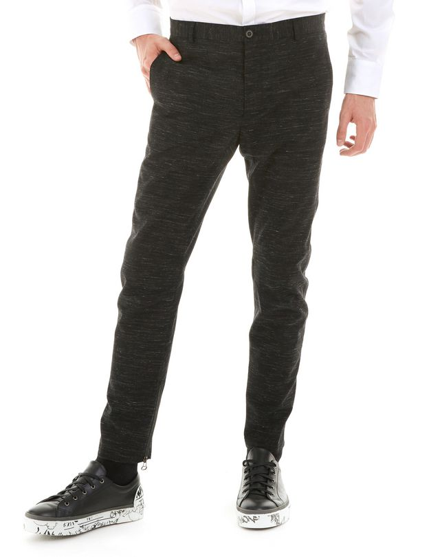 LANVIN TECHNICAL WOOL BIKER PANTS Pants U f