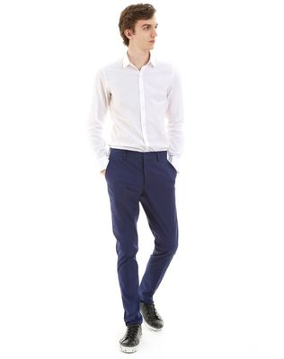 ROYAL BLUE SLIM-FIT CHINO PANTS