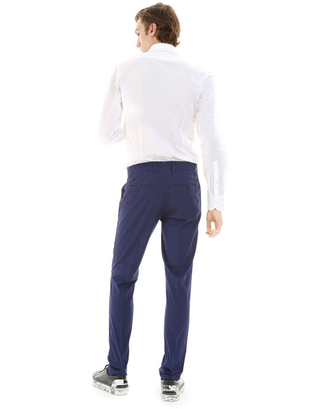 LANVIN ROYAL BLUE SLIM-FIT CHINO PANTS Pants U d