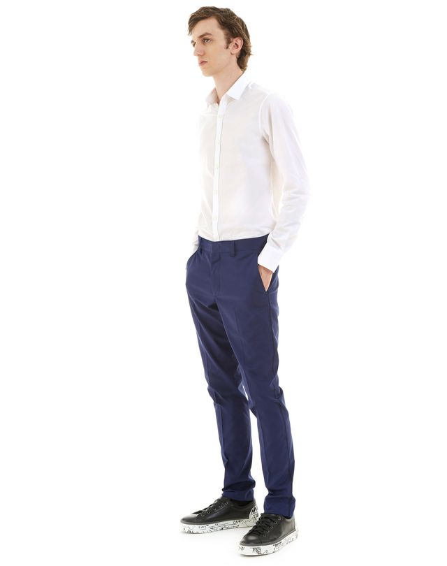 LANVIN ROYAL BLUE SLIM-FIT CHINO PANTS Pants U e