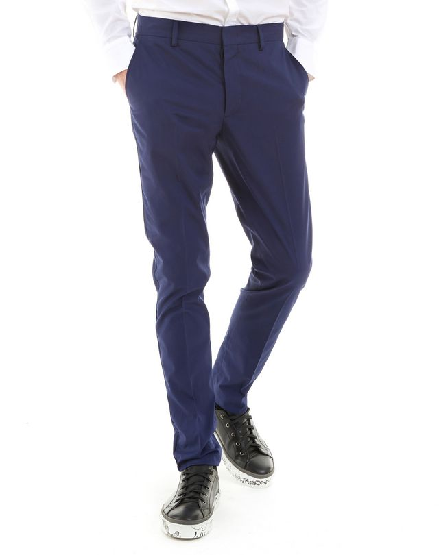 LANVIN ROYAL BLUE SLIM-FIT CHINO PANTS Pants U f