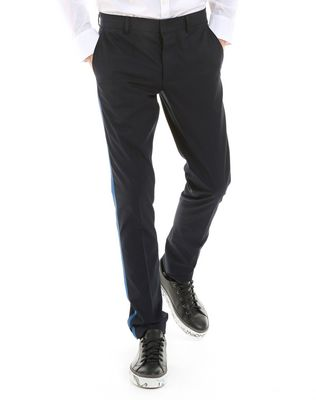 LANVIN SLIM-FIT CHINO PANTS WITH STITCHED RIBBON Pants U f