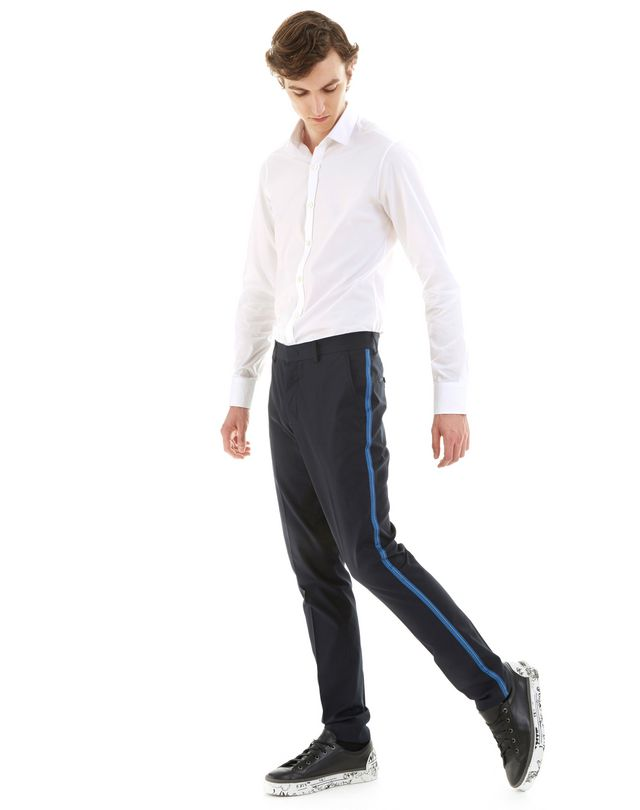 LANVIN SLIM-FIT CHINO PANTS WITH STITCHED RIBBON Pants U a