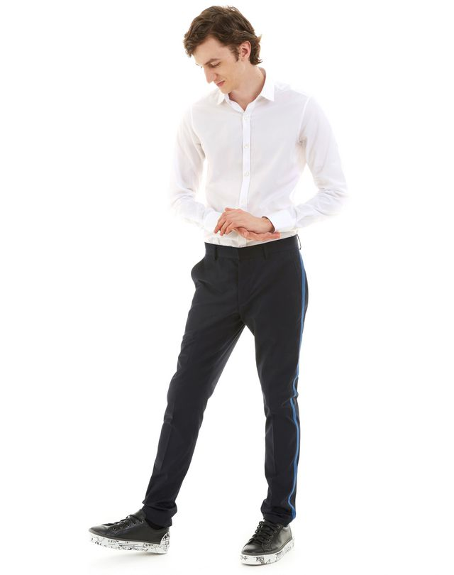 LANVIN SLIM-FIT CHINO PANTS WITH STITCHED RIBBON Pants U e