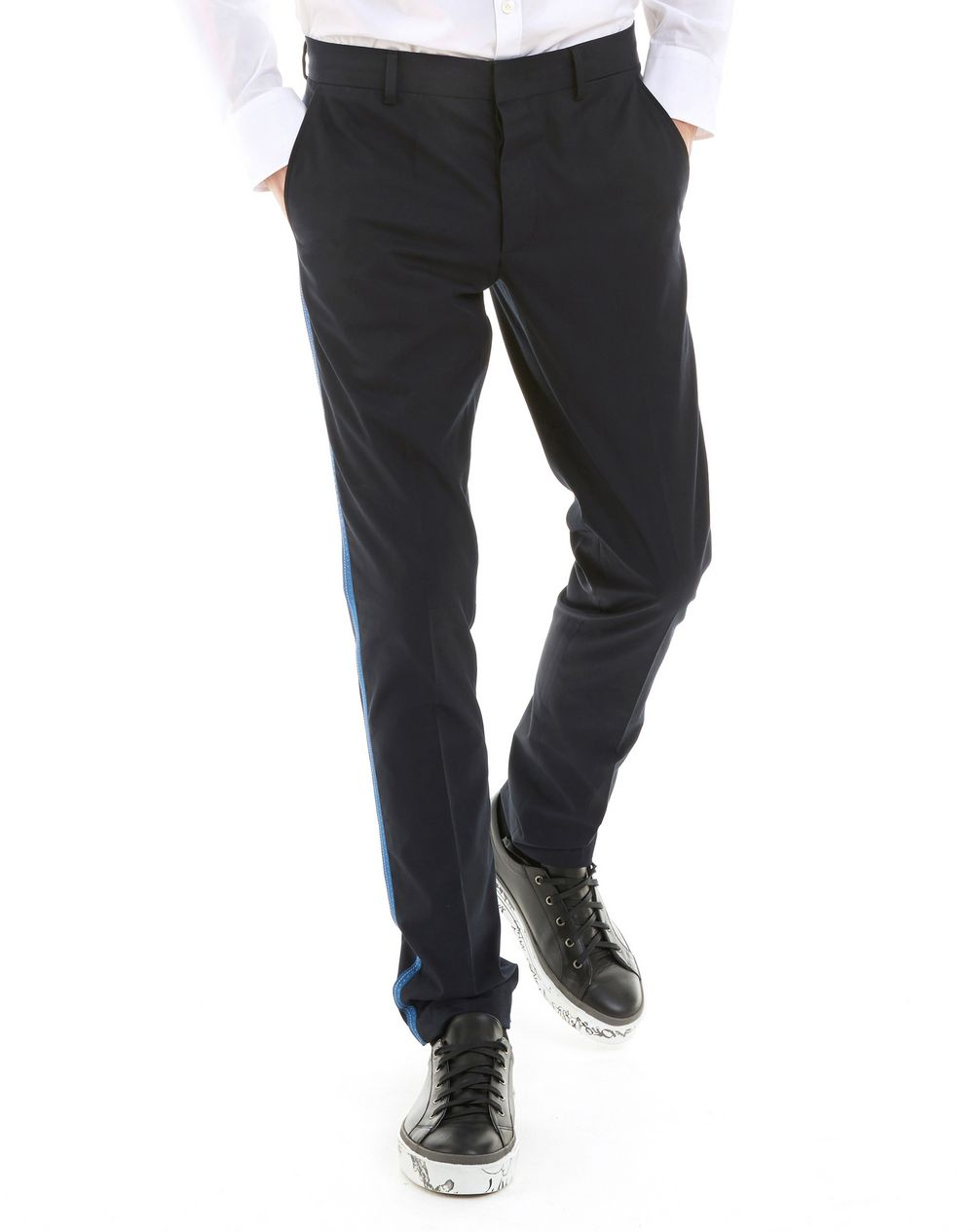 SLIM-FIT CHINO PANTS WITH STITCHED RIBBON - Lanvin