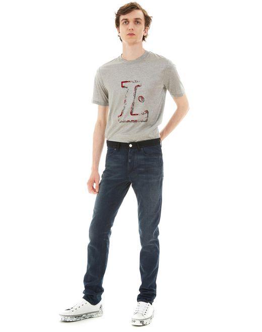 lanvin 5-pocket skinny jeans men