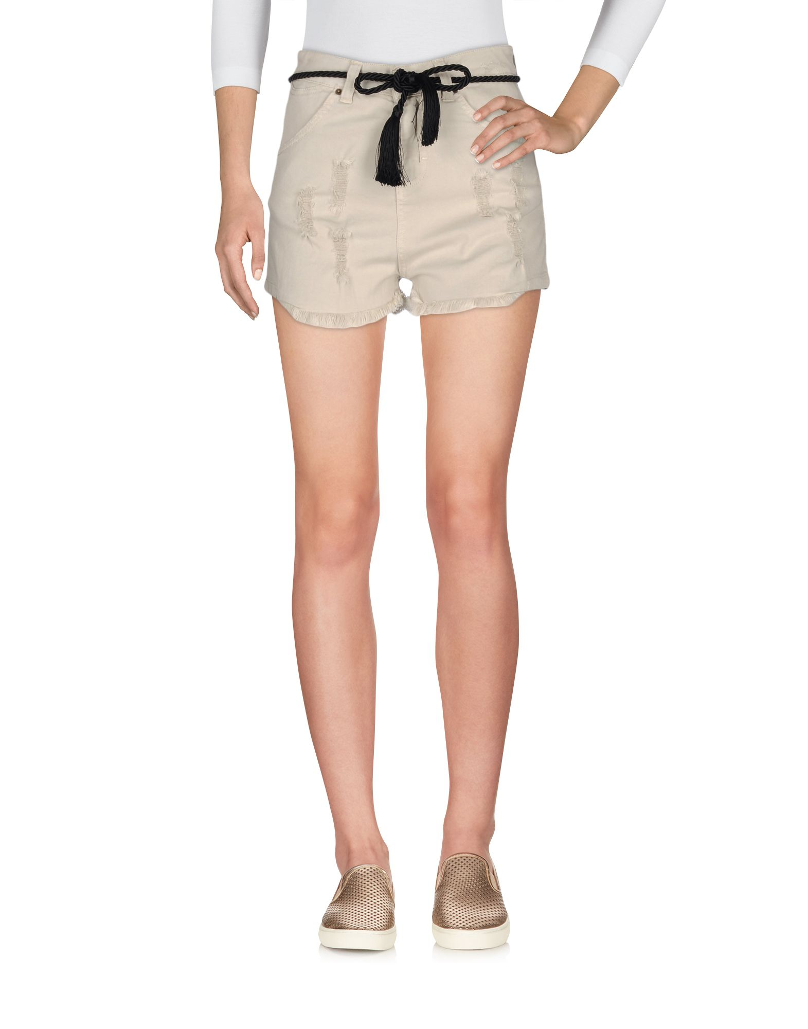 ANIYE BY Damen Jeansbermudashorts Farbe Beige Größe 5