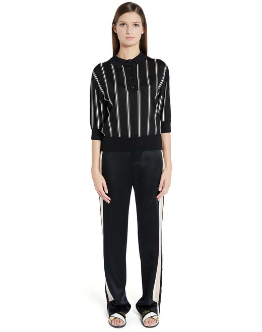 lanvin satin pants women