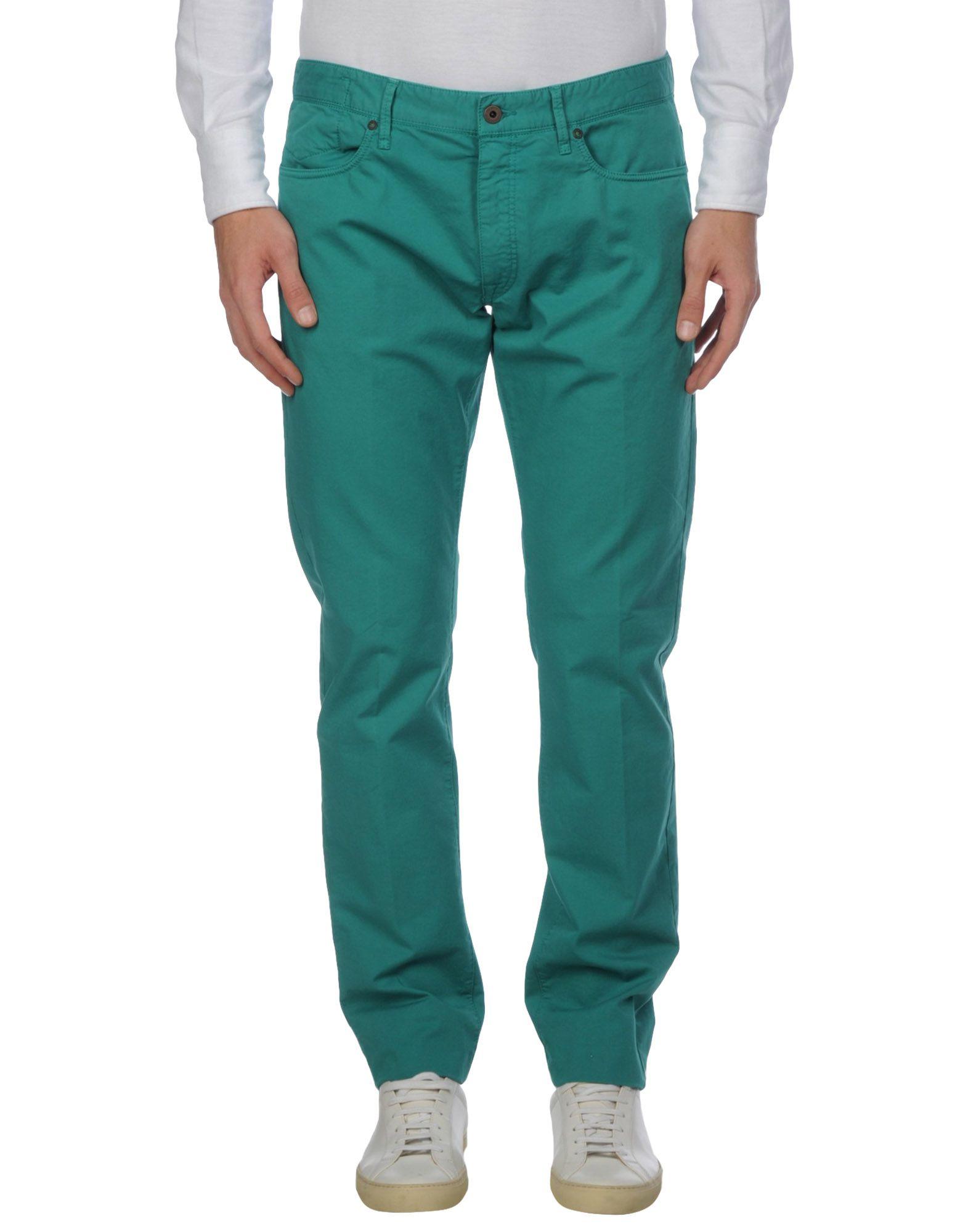 《セール開催中》INCOTEX メンズ パンツ エメラルドグリーン 34 コットン 95% / ポリウレタン 5%