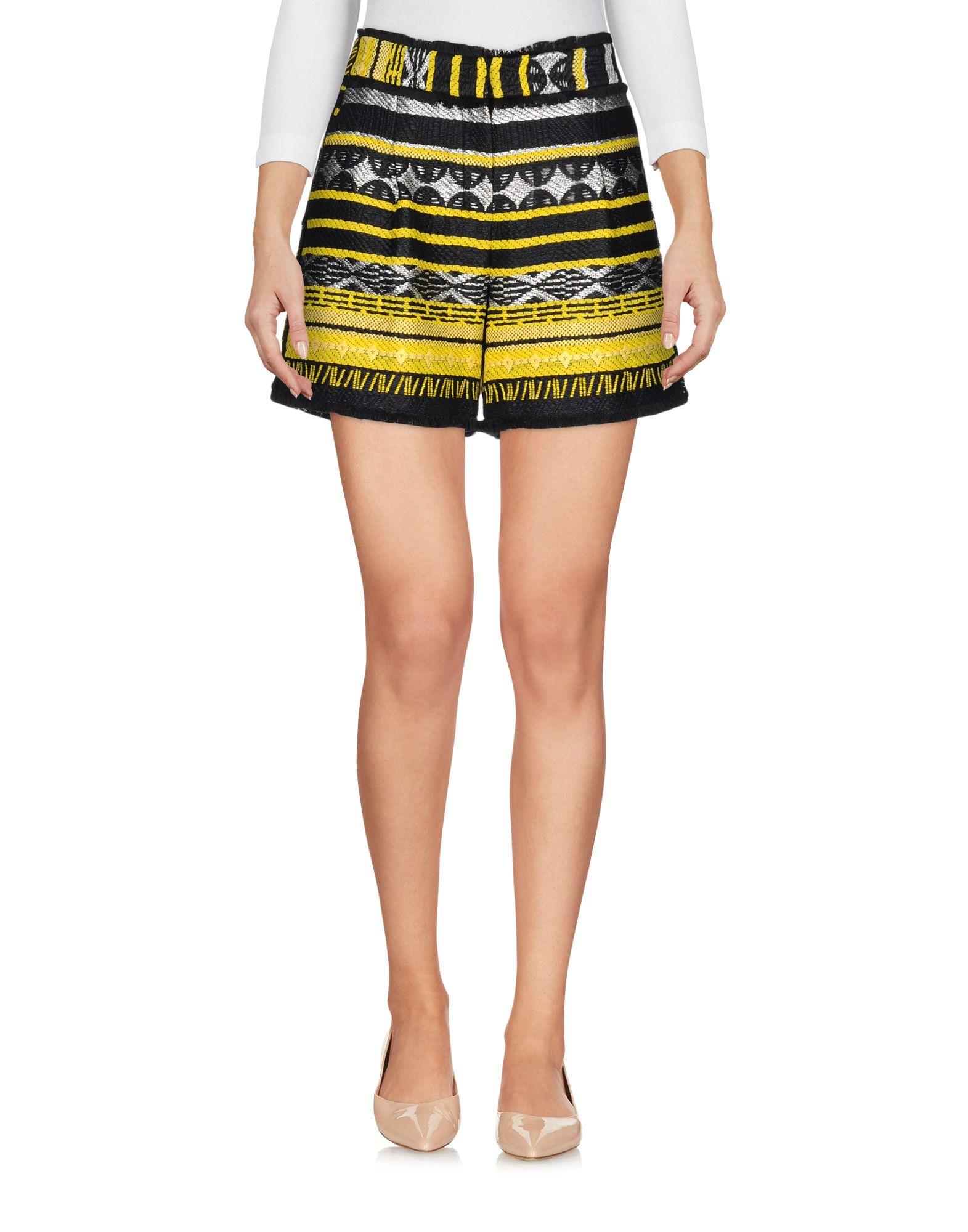 SIMONA CORSELLINI Damen Shorts Farbe Gelb Größe 5 - broschei