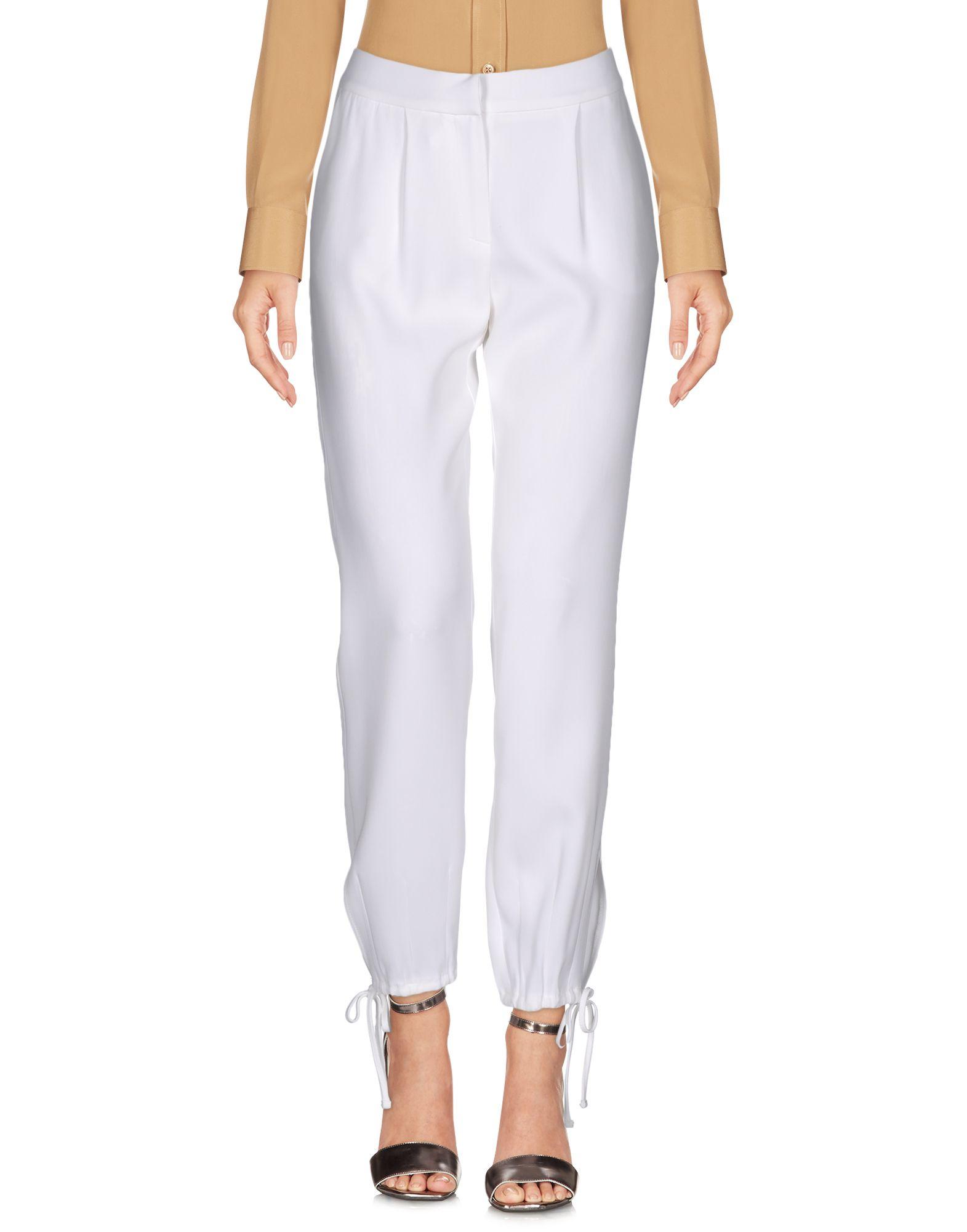 SIMONA CORSELLINI Damen Hose Farbe Weiß Größe 3 jetztbilligerkaufen