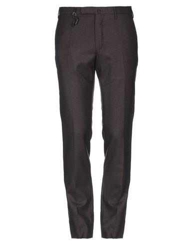 Фото - Повседневные брюки от INCOTEX темно-коричневого цвета