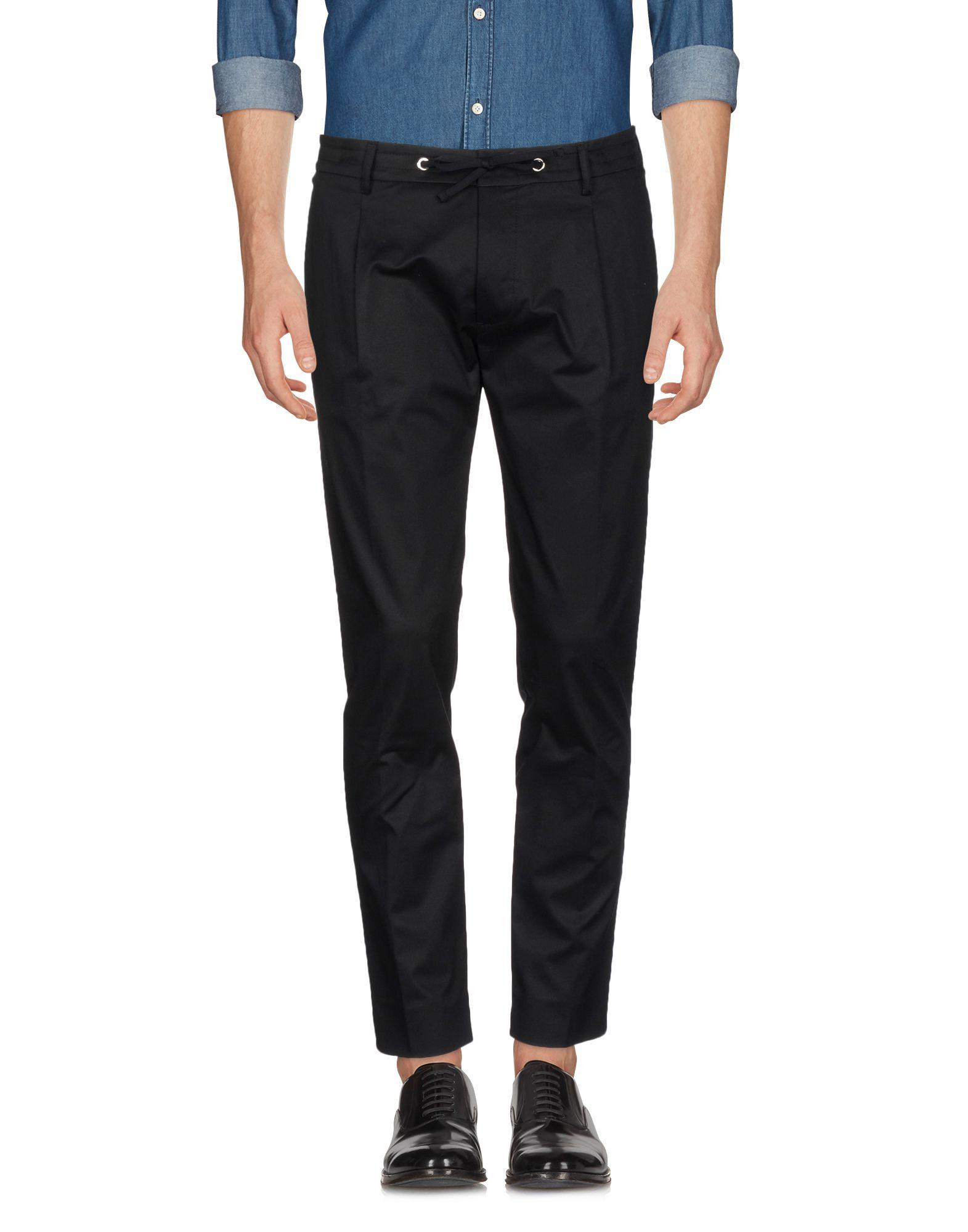 《セール開催中》H?SIO メンズ パンツ ブラック 52 コットン / ポリウレタン