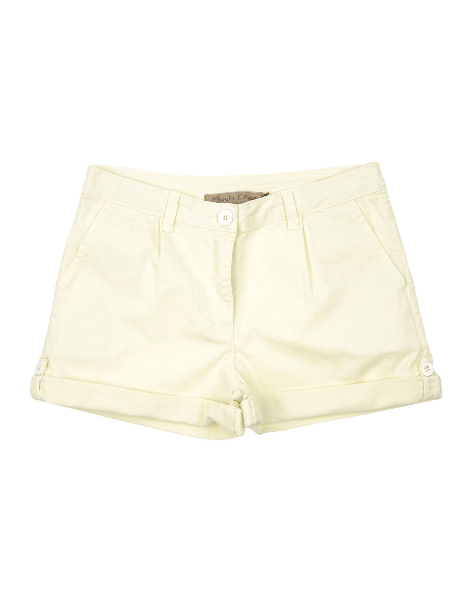 Manila Grace Denim Kids' Shorts In Green