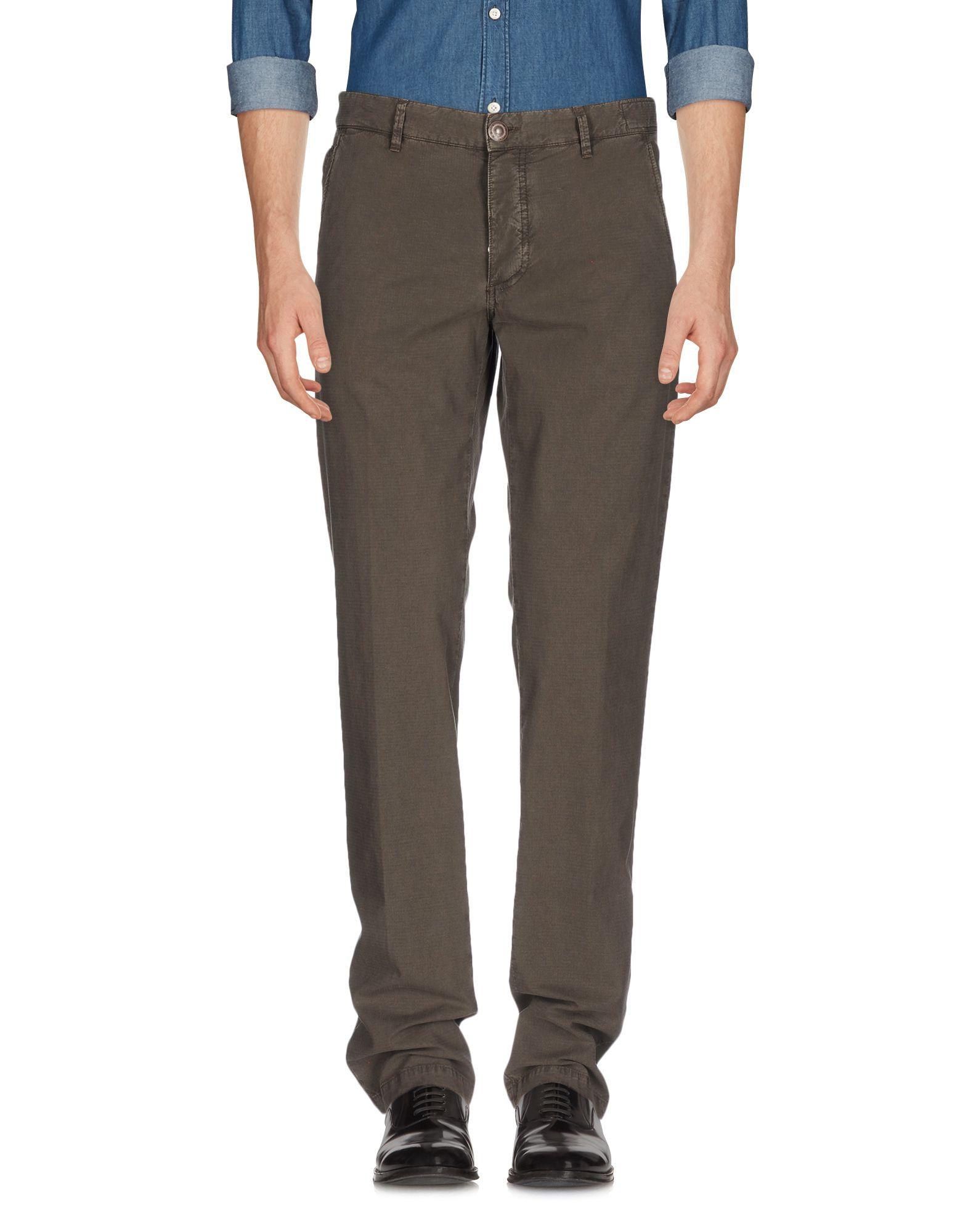 《送料無料》BARBA Napoli メンズ パンツ 鉛色 56 ウール 100%
