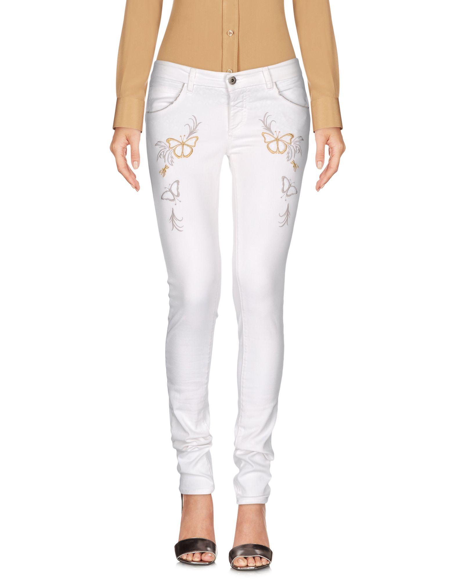 PATRIZIA PEPE Повседневные брюки patrizia pepe обтягивающие джинсы с 5 карманами из денима стрейч со стразами