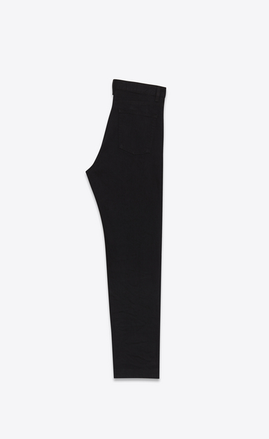 SAINT LAURENT Baggy D Worn Baggy Jean in Black stretch denim b_V4