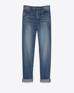 SAINT LAURENT Baggy D Weite Jeans in Vintage-Blau f
