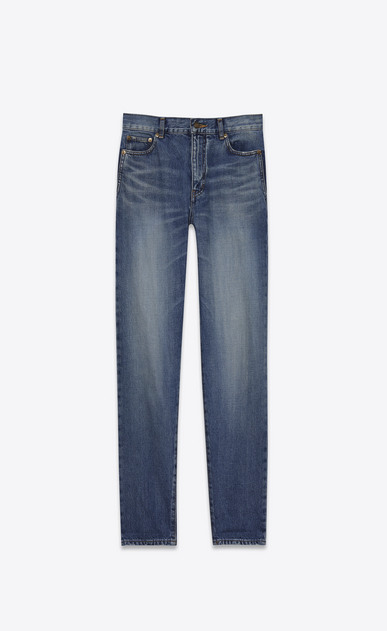 SAINT LAURENT Baggy D Baggy Jean in Vintage Blue denim a_V4