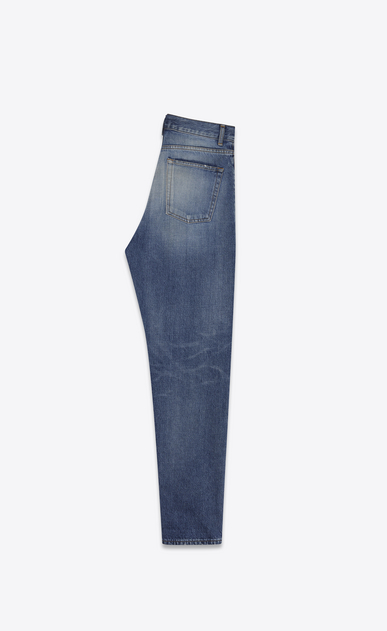 SAINT LAURENT Baggy D Baggy Jean in Vintage Blue denim b_V4